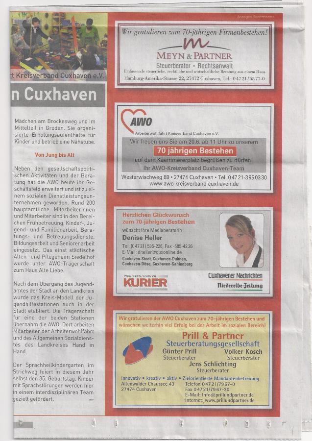 70 Jahre Arbeiterwohlfahrt in Cuxhaven 2