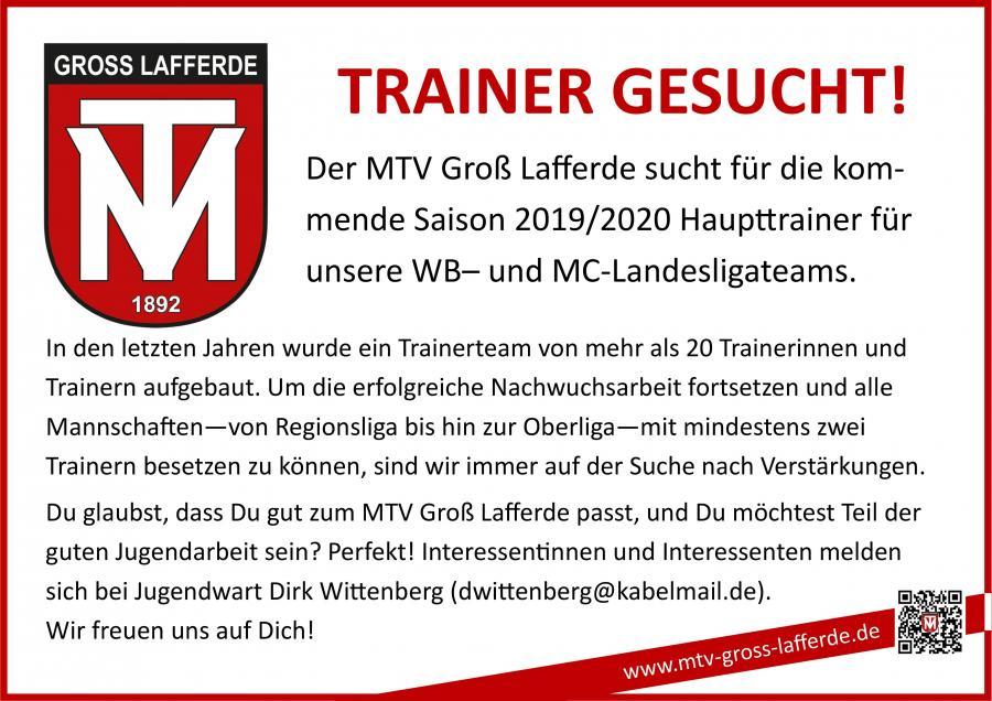 Trainersuche WB- & MC-Jugend