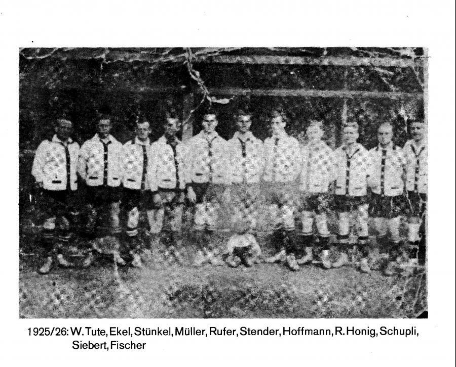 1. Herren 1925 - 1926
