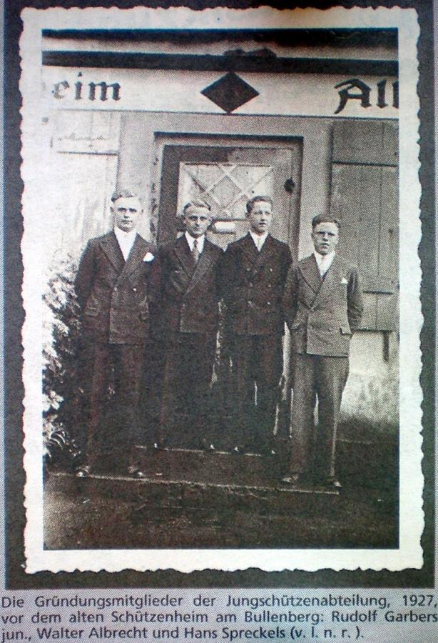 1927-Gründung der Jungschützen Altkloster