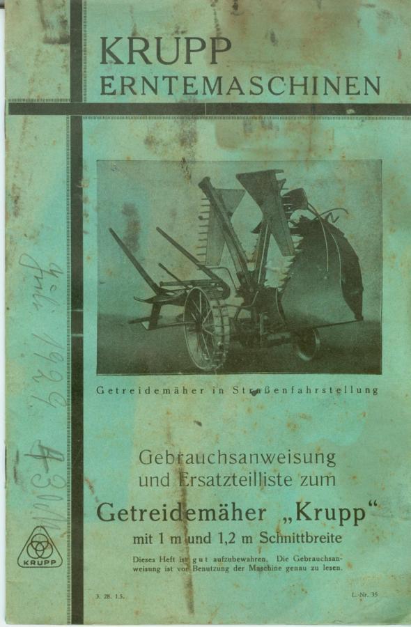 1929 Getreidemäher Krupp