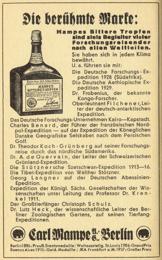 Carl Mampe Werbung 1