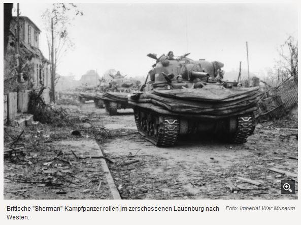 1945 Britische Truppen durch Lauenburg und Schnakenbek