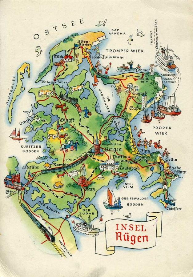 Karte Rügen.Rügen Unsere Trauminsel Ein Virtuelles Post Und Ansichtskarten