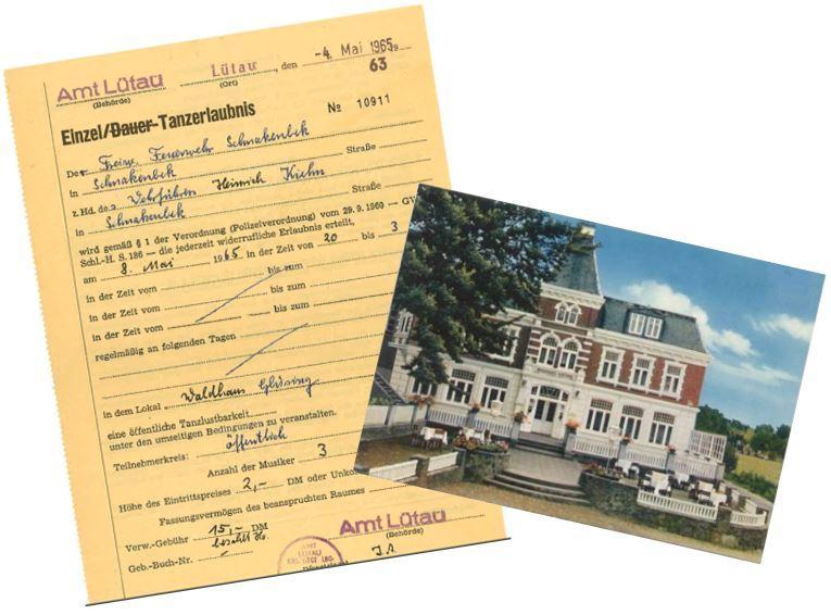 1965-05-04 Tanzerlaubnis Waldhaus Glüsing