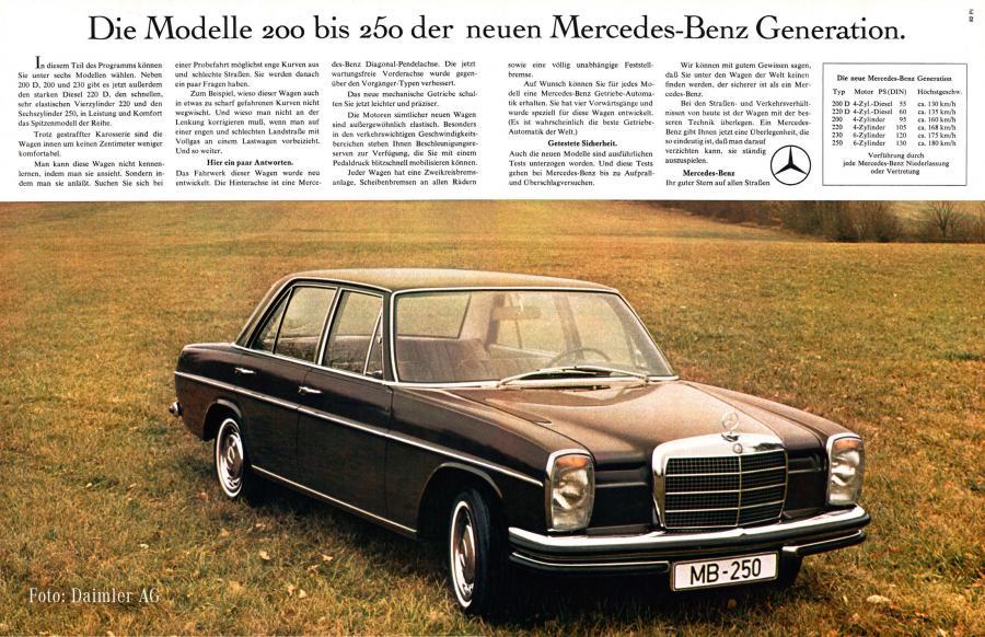 Mercedes-Benz Anzeige vom Februar 1968