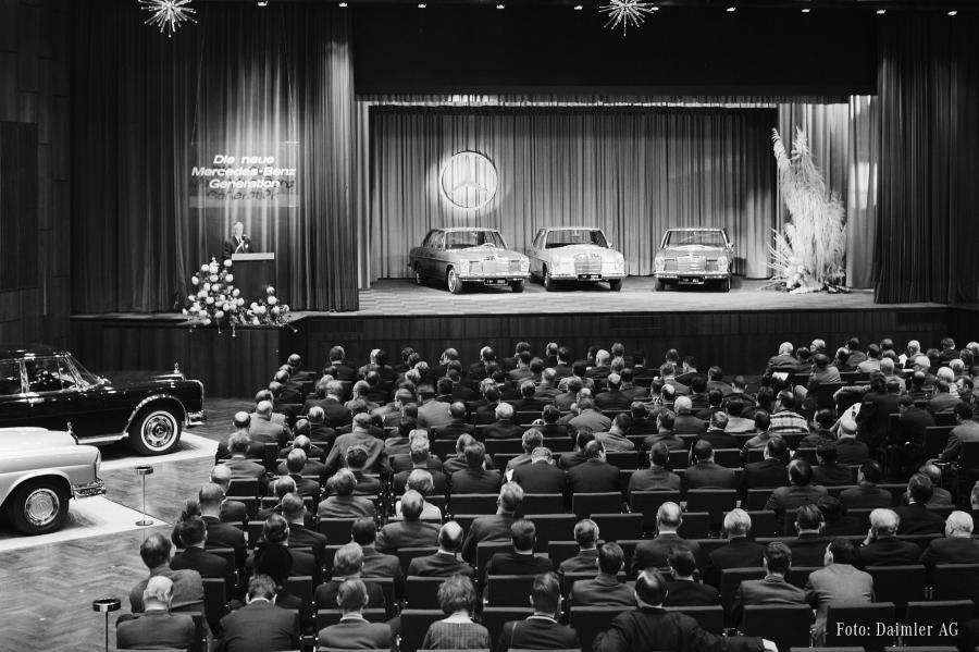 Januar 1968 - Die Vorstellung der neuen Generation in Sindelfingen
