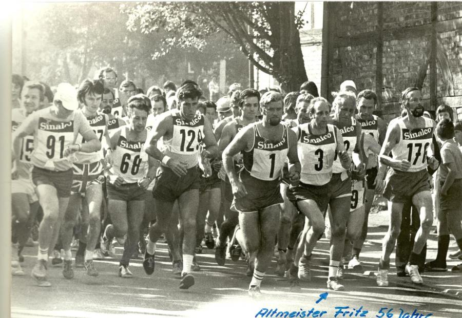 Start des 1. Lahstedt-Marathons (1973)