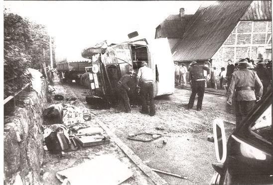 1974 schwerer LKW-Unfall