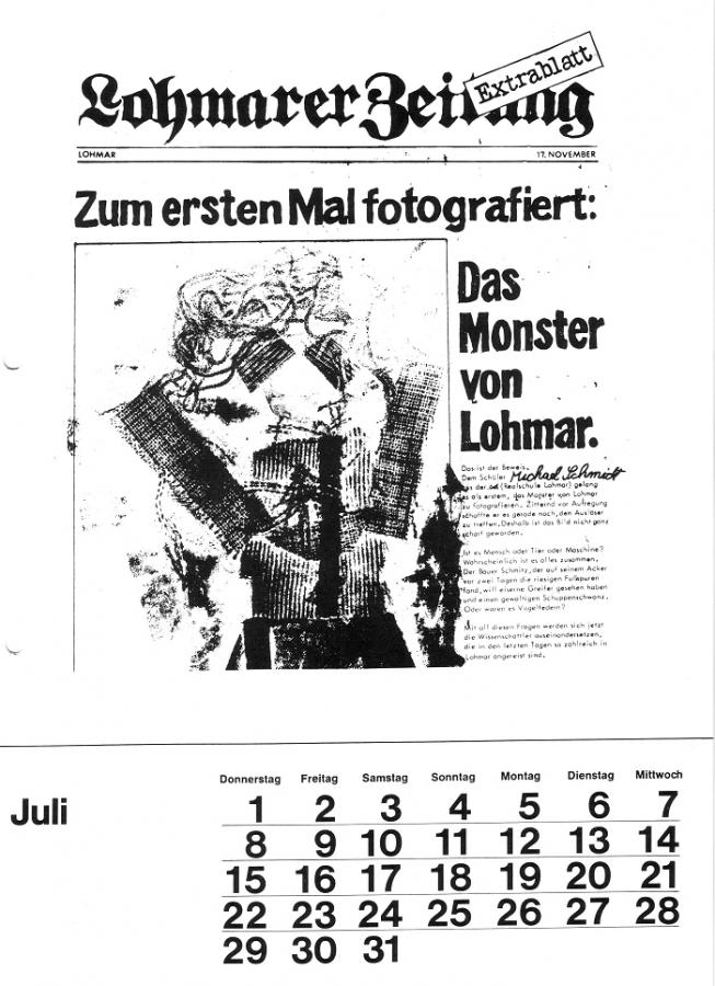 Schulkalender 1982 Juli