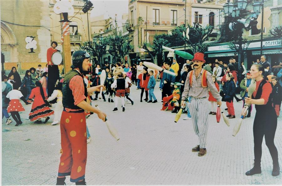 1990 Sizilien Palermo, Show auf dem berühmten Mondello