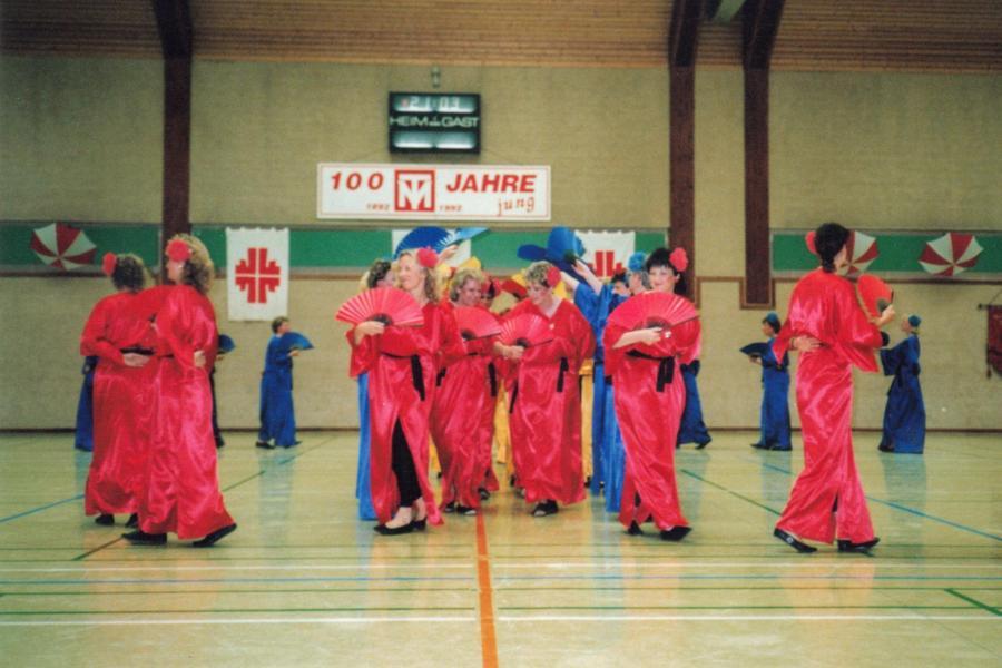Schauturnen anlässlich des 100-jährigen Vereinsjubiläums (1992)