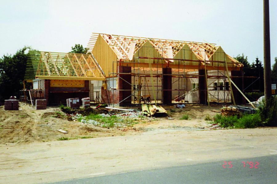 Bau des Feuerwehrhauses am Schulsteig 1992