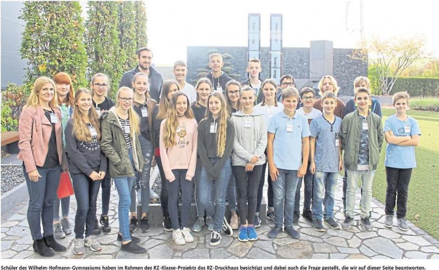 Besuch der Klasse 8b im Druckhaus der Rhein-Lahn-Zeitung