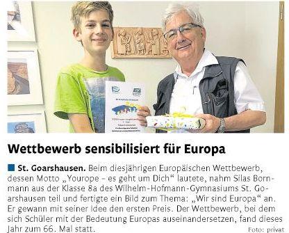 Silas Bornmann bei YOUrope-Wettbewerb erfolgreich