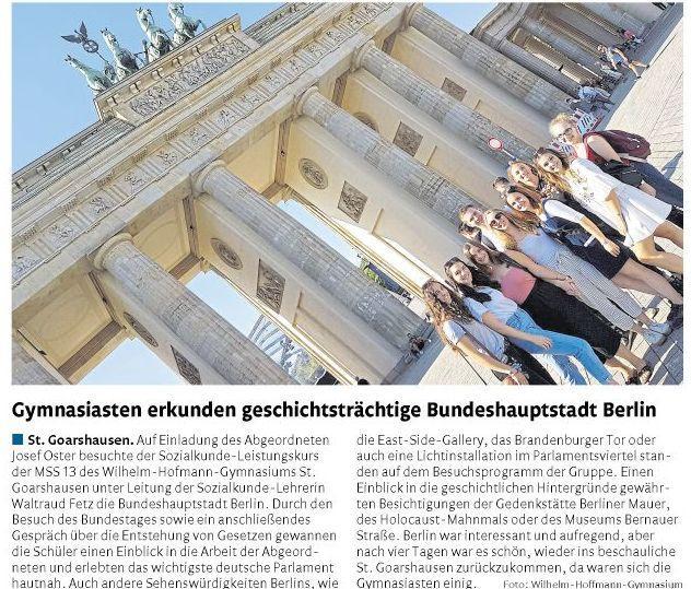 Berlin-Exkursion LK Sozialkunde MSS 13