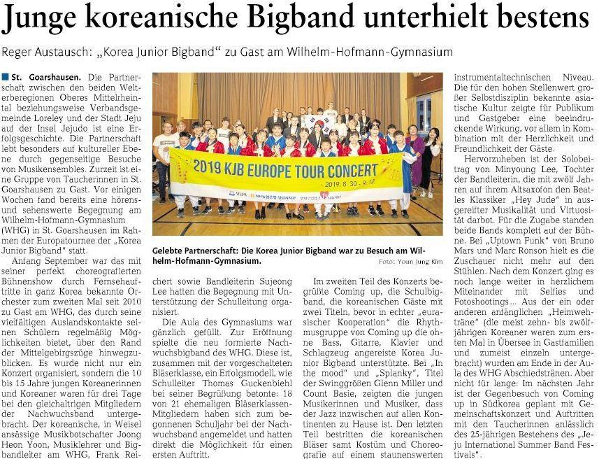 Double Feature - Coming up und Korea Junior Bigband