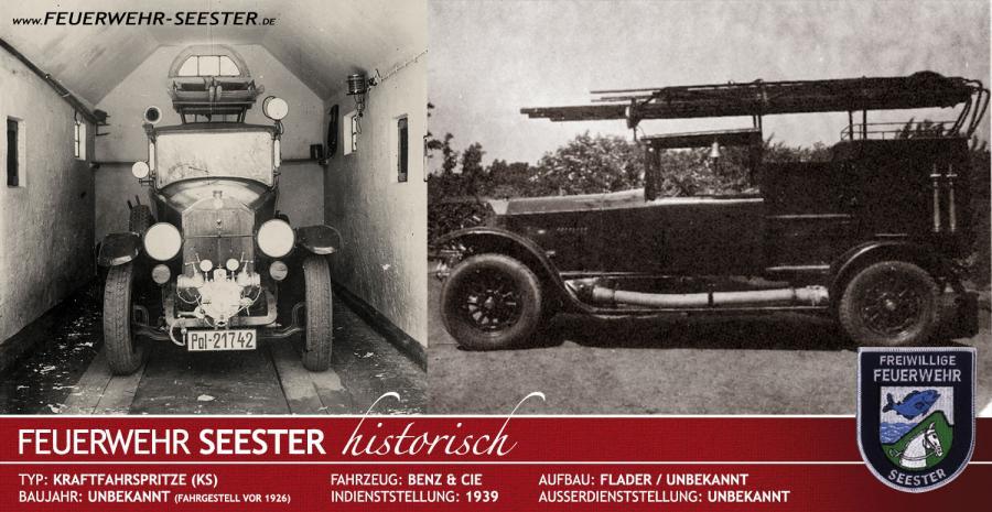Kraftfahrspritze (KS) Benz/Flader von 1939