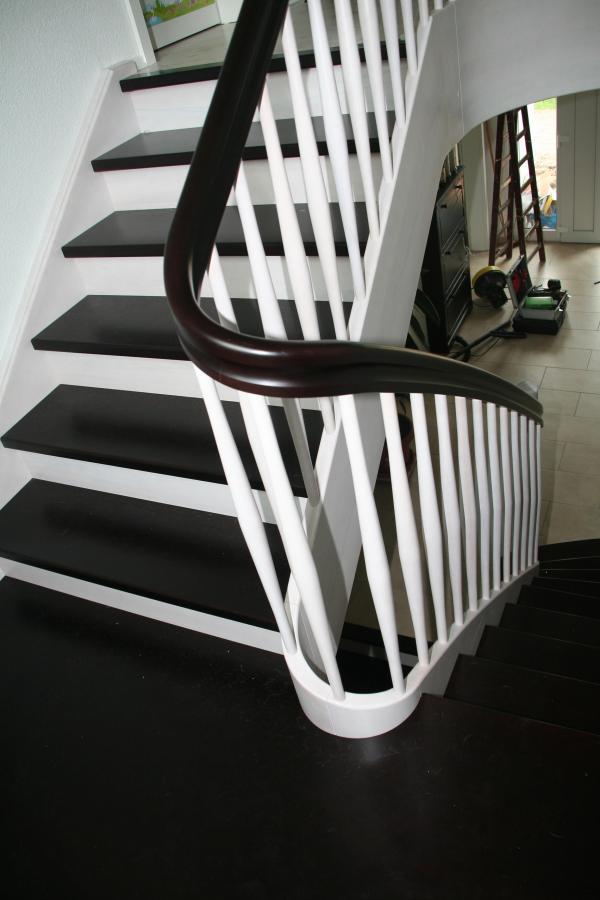 Treppe mit Krümmlinge