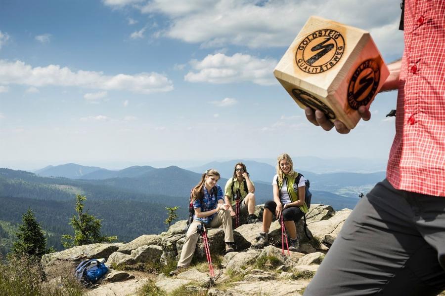 Blick über die 8 Tausender vom Arber- Goldsteig Etappe N-13; Foto: A. Hub/Tourismusverband Ostbayern