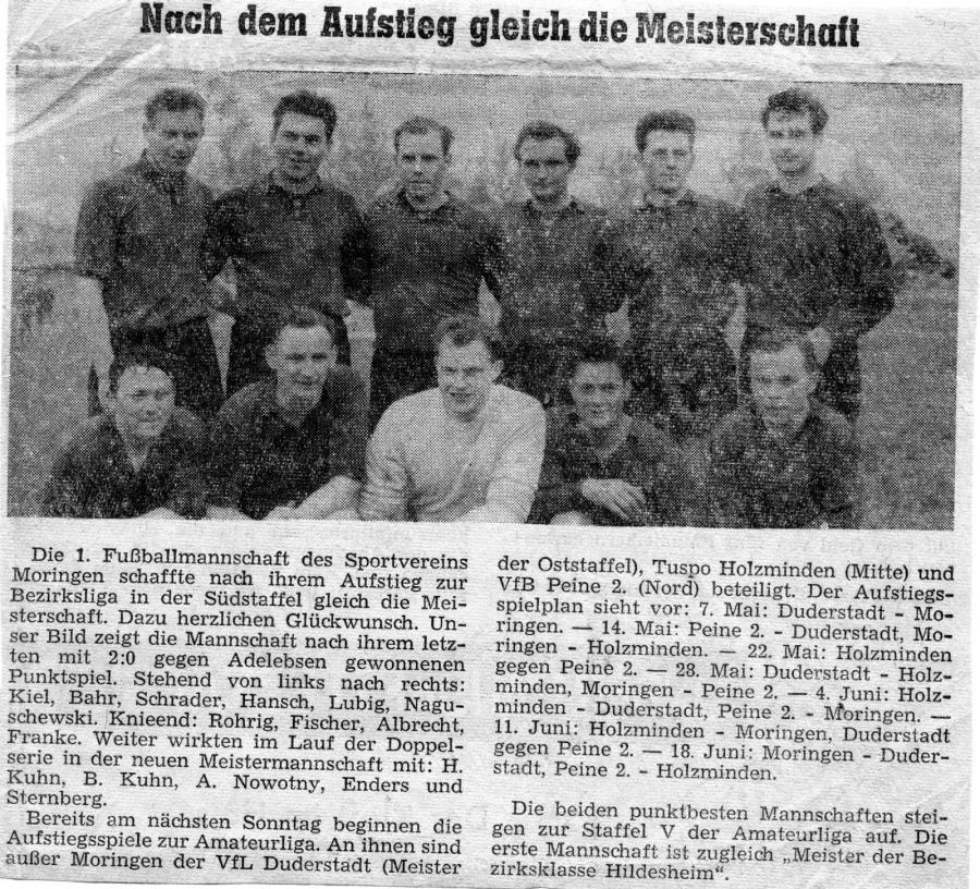 1. Herren 1960 - 1961