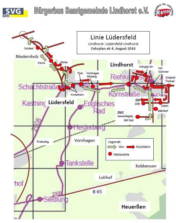 Linie 1 Lüdersfeld Bild