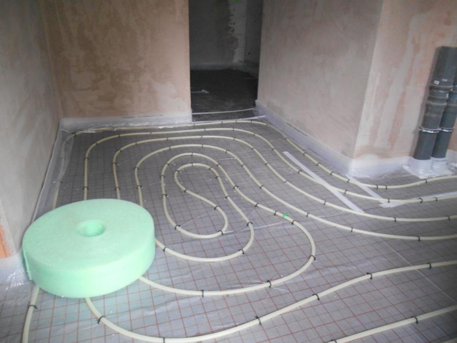 Fußbodenheizung Gartengeschoss