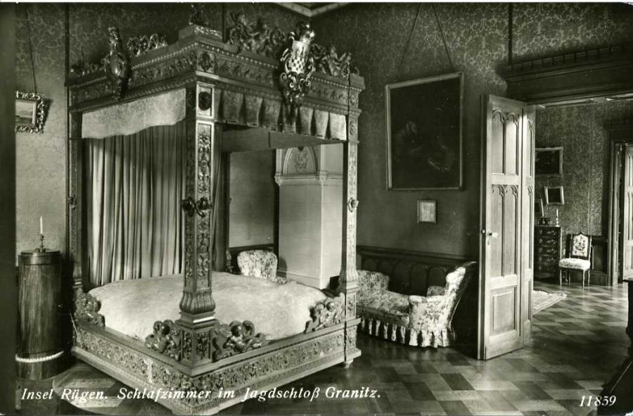 Insel Rügen Schlafzimmer im Jagdschloß Granitz