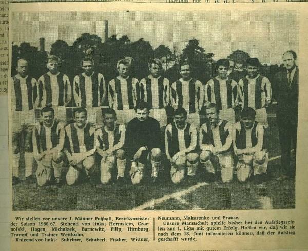 Mannschaft 1966/1967
