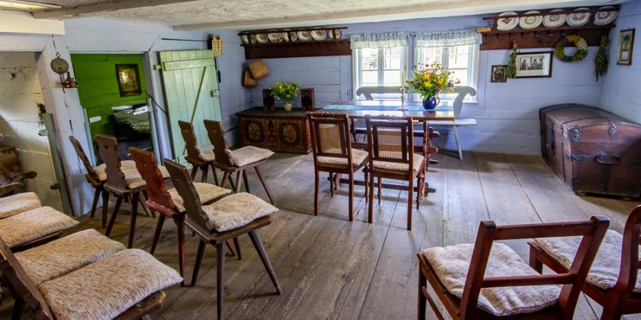 Hochzeitshaus_Einrichtung_Freilandmuseum Lehde Foto- Museum OSL