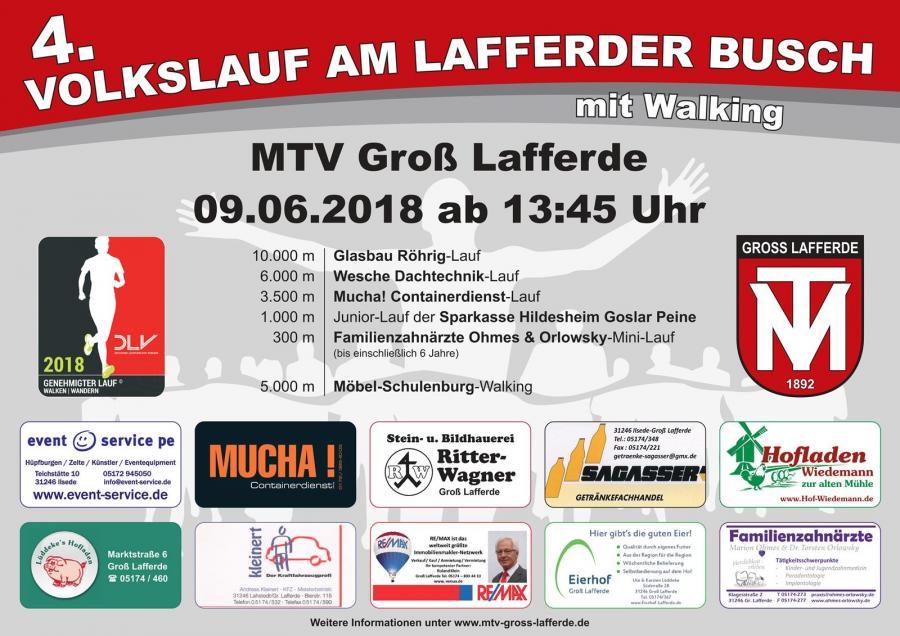 Plakat: Volkslauf am Lafferder Busch 2018