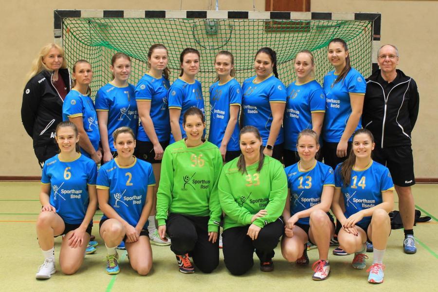 Mannschaftsbild der 1. Damen (Saison 2018/19)