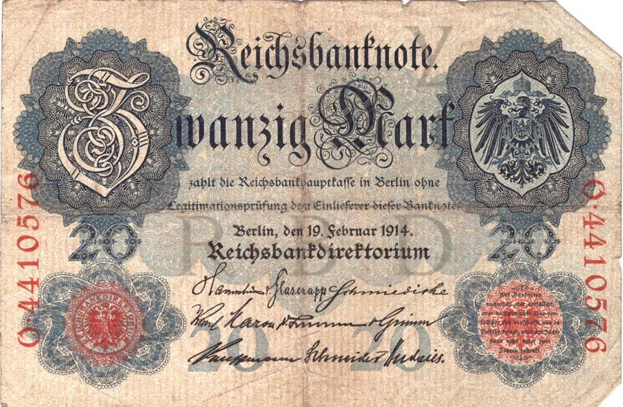 Reichsbanknote vom 19. Februar 1914