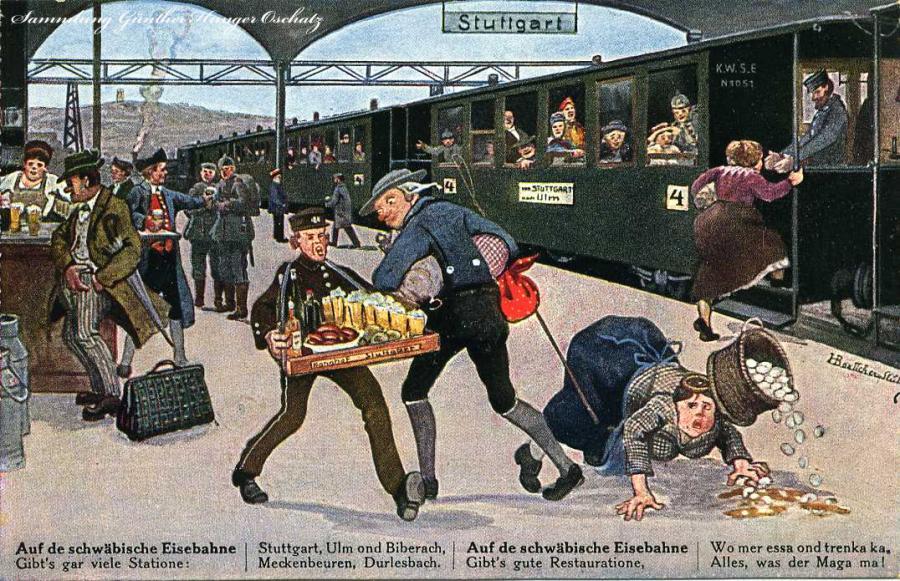Auf der schwäbische Eisenbahne  1