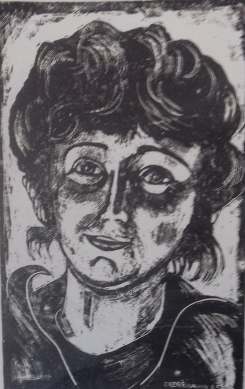 Portrait- G.1985 Zementsteindruck21 x 34 cm