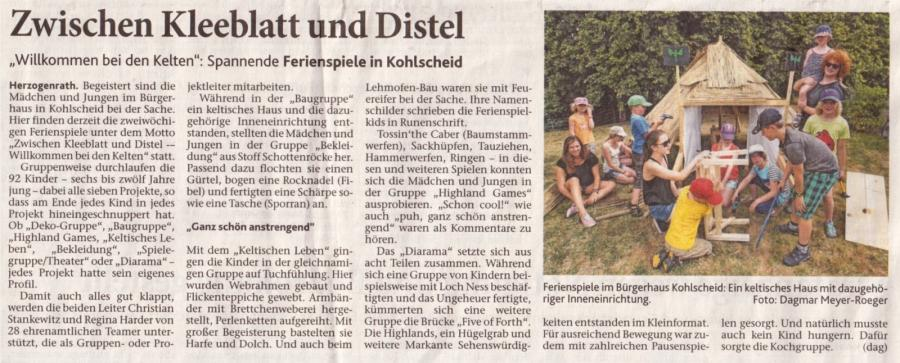 17.07.2015 Aachener Zeitung