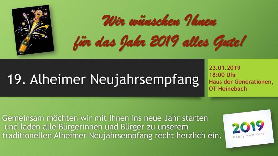 Einladung zum Neujahrsempfang