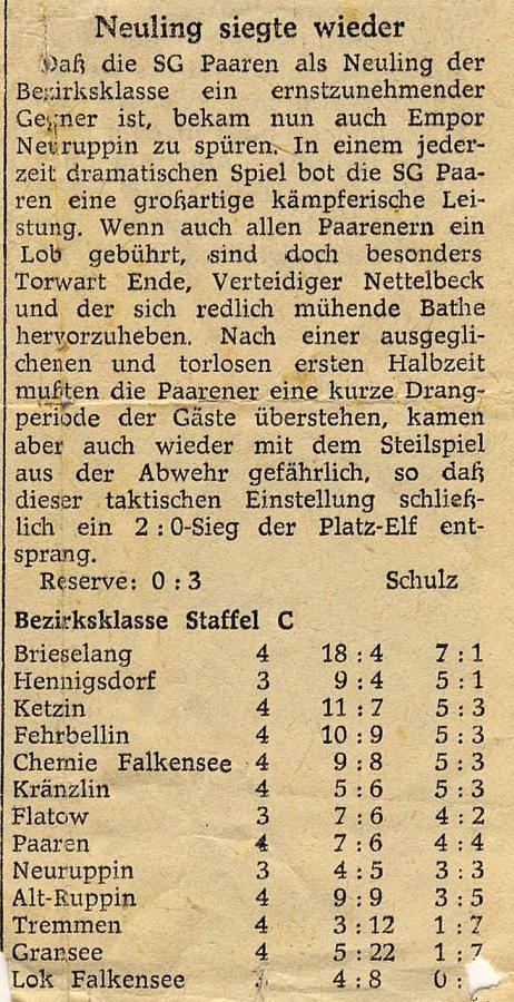 Zeitungsartikel Manfred Ende