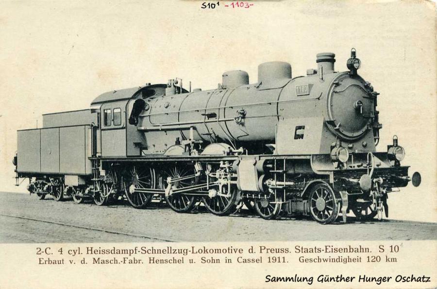 2-C 4 cyl. Heissdampf Schnellzug-Lokomotive