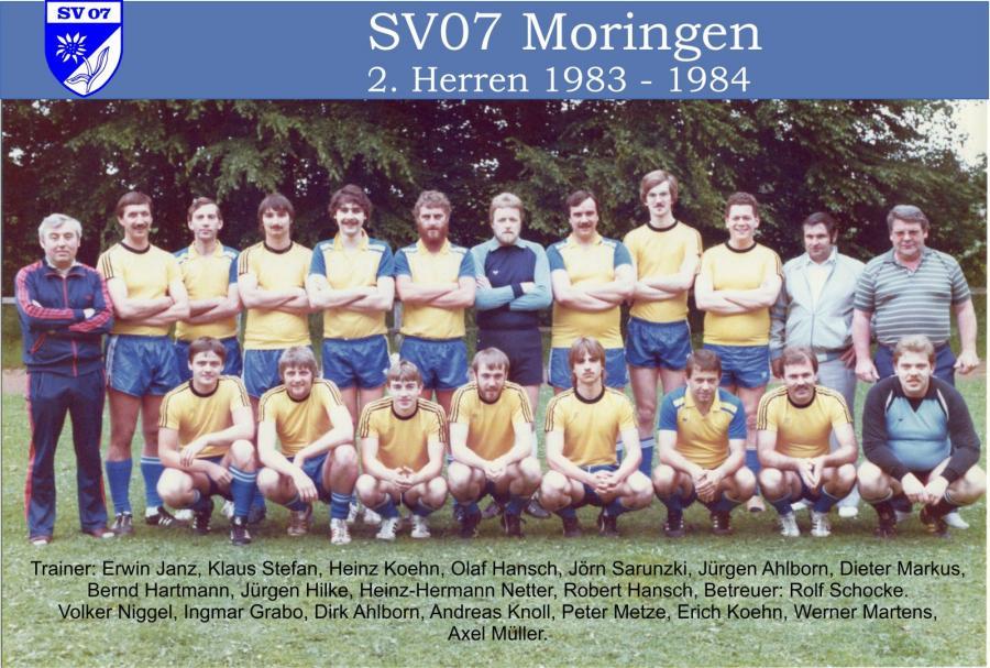 2. Herren 1983 - 1984
