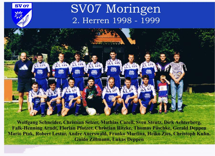 2. Herren 1998 - 1999