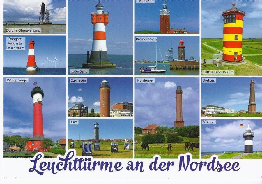 20013 WPK Leuchttürme der Nordsee m. LT RS