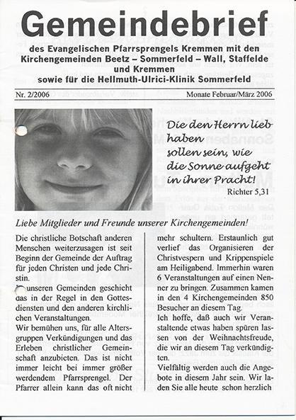 Gemeindebrief Februar / März 2006