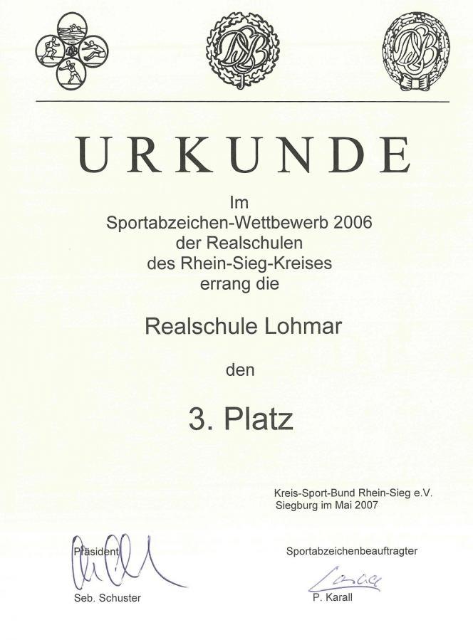 Sportabzeichenwettbewerb 2006