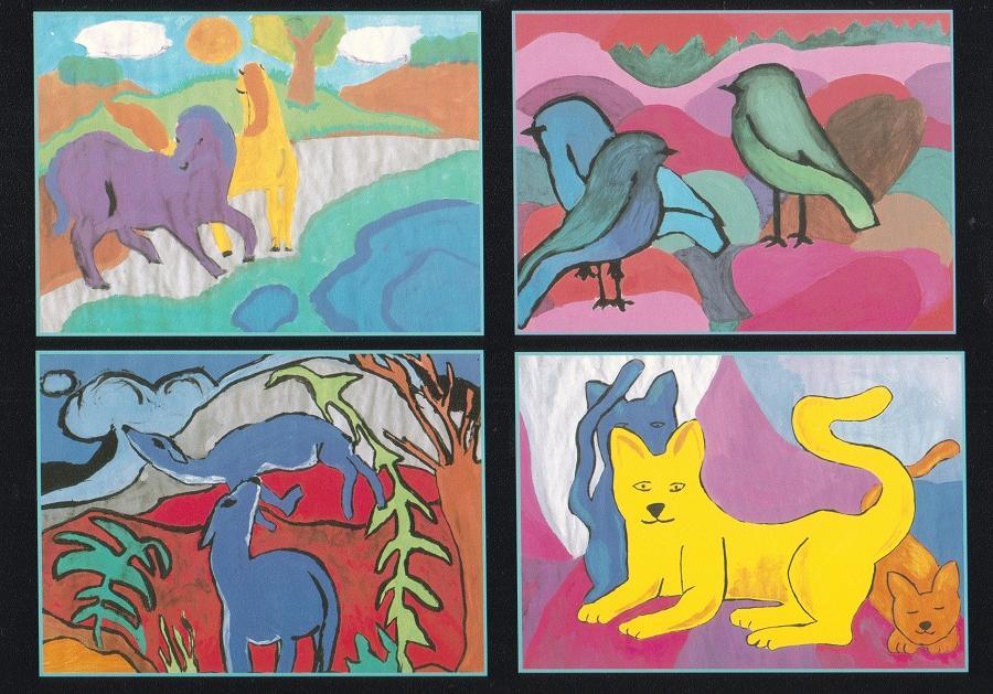 Tierdarstellung mit Mitteln expressionistischer Malerei
