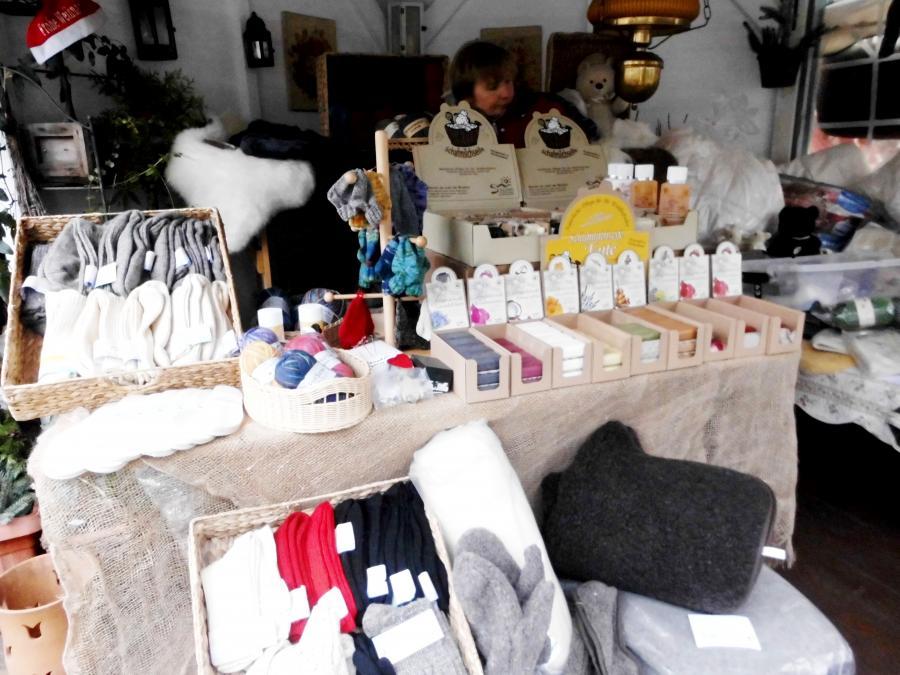 Milchschafseife, Handschuhe, Muff