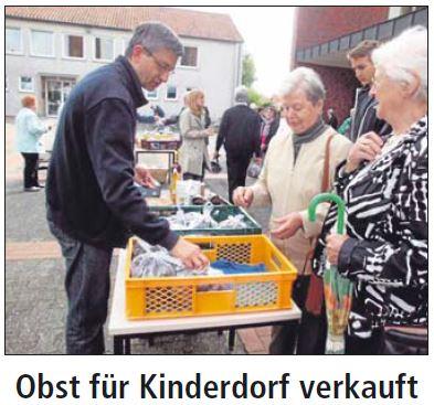 Obstverkauf für Kinderdorf