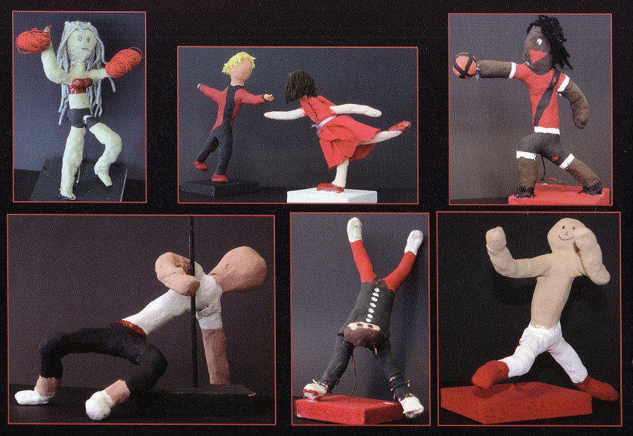 Figuren im Fitnessstudio