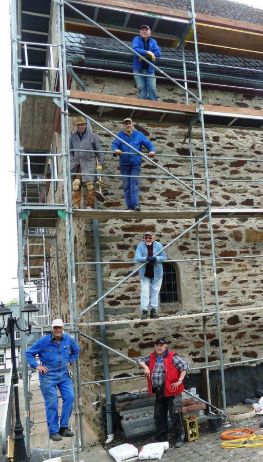 Renovierungsarbeiten im Mai 2014