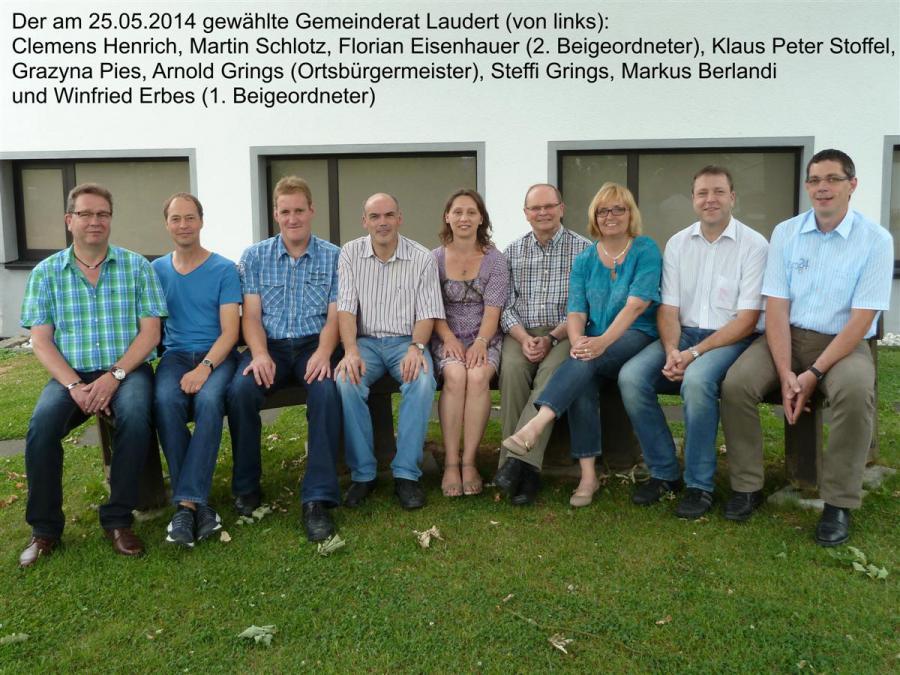 Der Ortsgemeinderat Laudert am 20.07.2014
